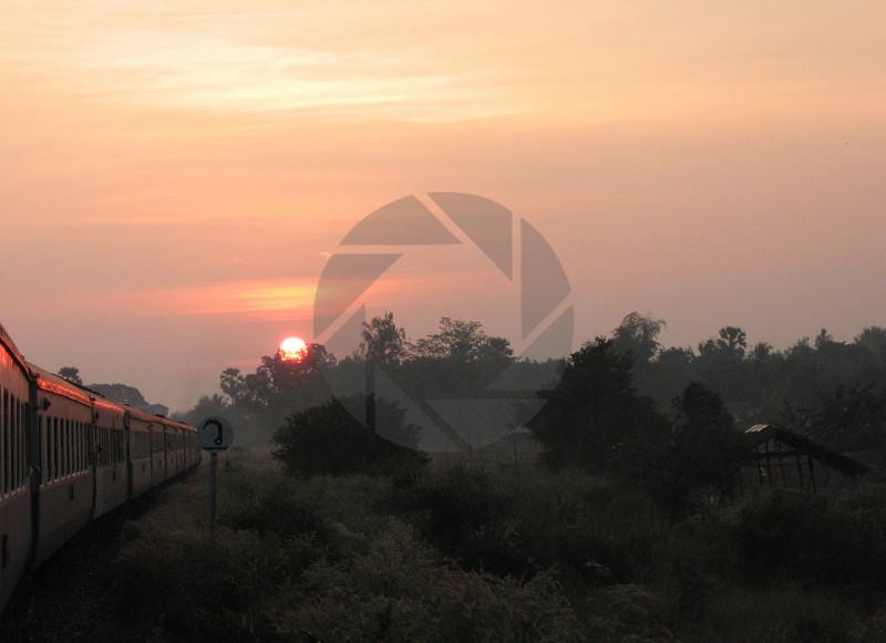 Thai Sunset on the Train