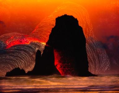 Lava Sea Stack