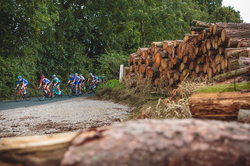 Ryedale Women's Grand Prix 2019 Ryedale Women's Grand Prix 2019 - Passing a Logging Site