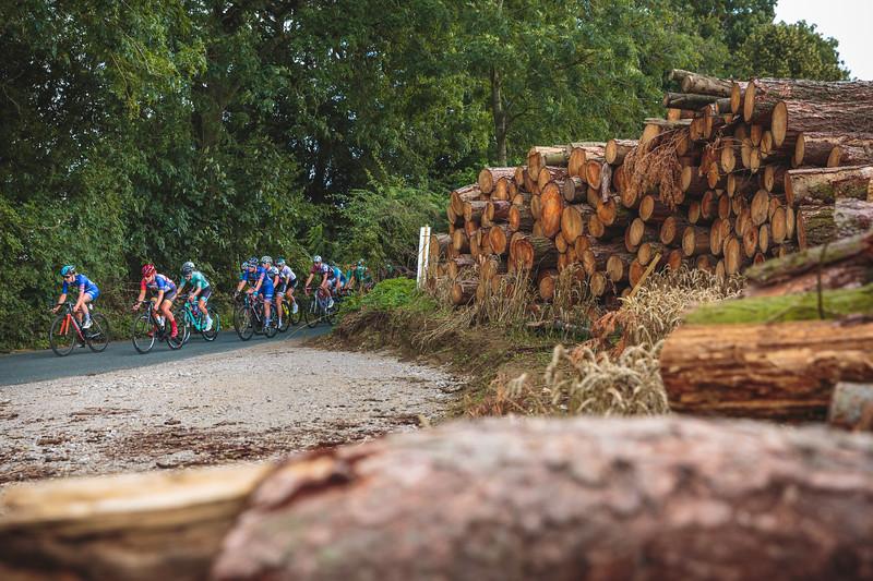 Ryedale Women's Grand Prix 2019 Ryedale Women's Grand Prix 2019 - Passing a Logging Site