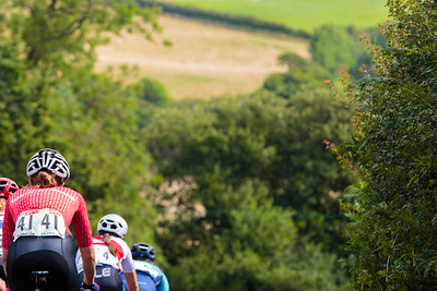 Descending into the countryside at the Ryedale Women's Grand Prix 2019
