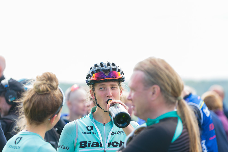 Bianchi Dama post- race celebrations