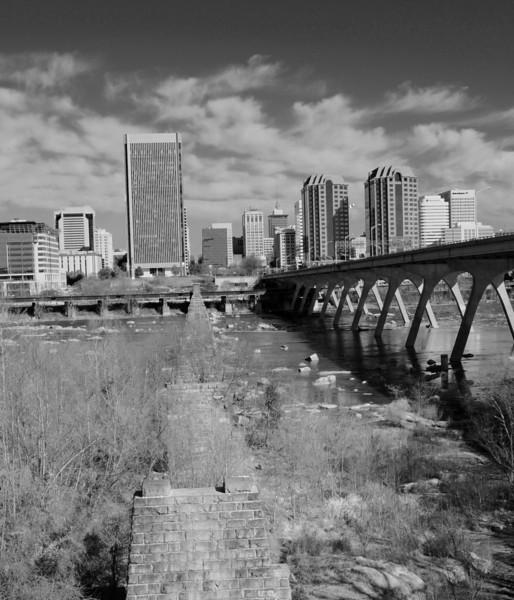 Richmond va james river bridge <br /> converted to infrared