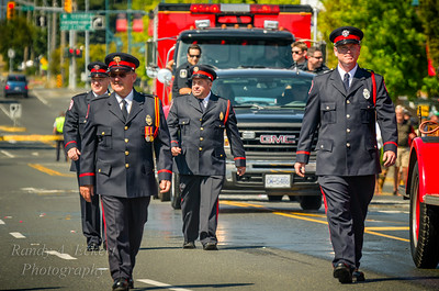 The Honour Guard at Sidney Fire Departments 100 Year Anniversary.
