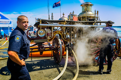 VICTORIA FIRE DEPARTMENT Waterous 2nd size Steam Pumper at SVFD's 100th Anniversary.