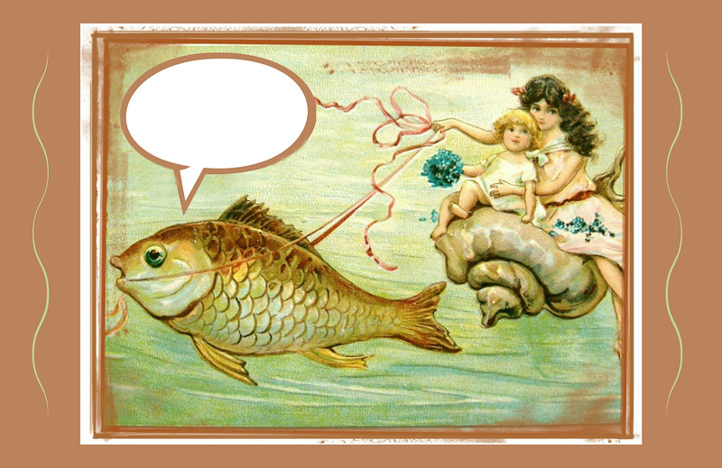 Vintage Whimsical Greeting in the Public Domain