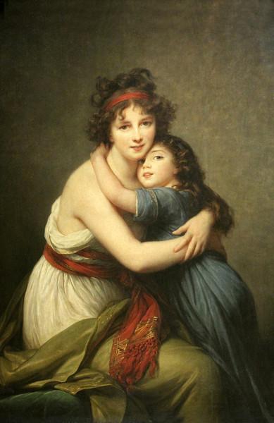 Elisabeth-Louise Vigée Le Brun -- Self Portrait With Daughter.