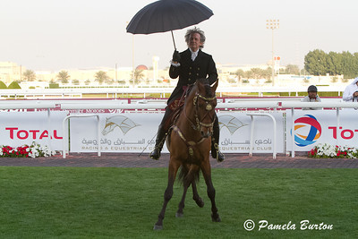 "Mario Luraschi with on horse dancing to ""Singing In The Rain"""
