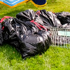 Some of the litter bags collected in the two hour walk.