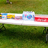 Water and pop drinks set up and ready for Pizzas to arrive...