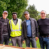 L-R  Rotarians John Stevenson, Ismail Taiwo, Sanjeeve Dutta and Iosif Ciosa helped with the setup. Thanks to all.