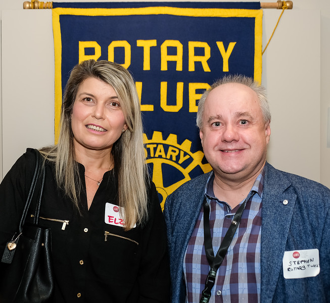 Guest Elza with current RTW President Stephen Thiele