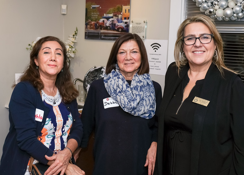"Guests Shahla and Debbie with event host Lola Macanowicz of the ""Village of Islington Business Excellence Centre""   Big thanks to Lola!!!"