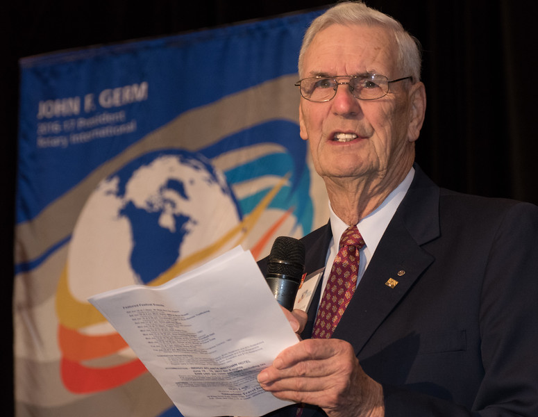 Dr Bob Scott, long standing advocate for Polio Plus and the Rotary Foundation