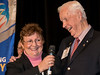 Linda Ryder with past RI President Wilf Wilkinson