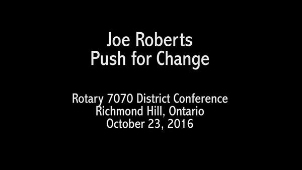 Joe Roberts Segment 1