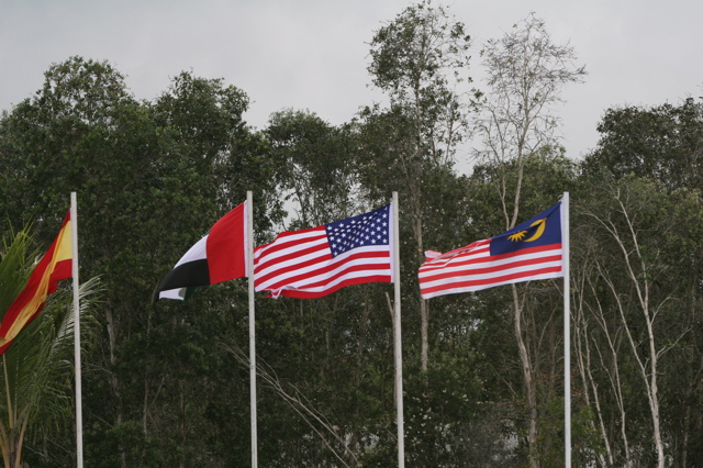 1. The Malaysian flag (far right) resembles the US