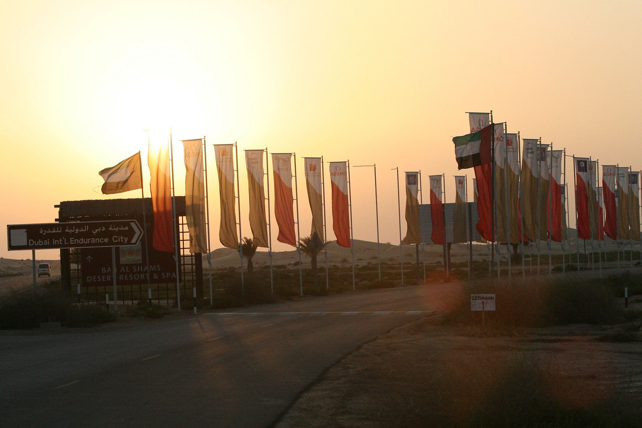 3. Sunset reaches the endurance village entrance