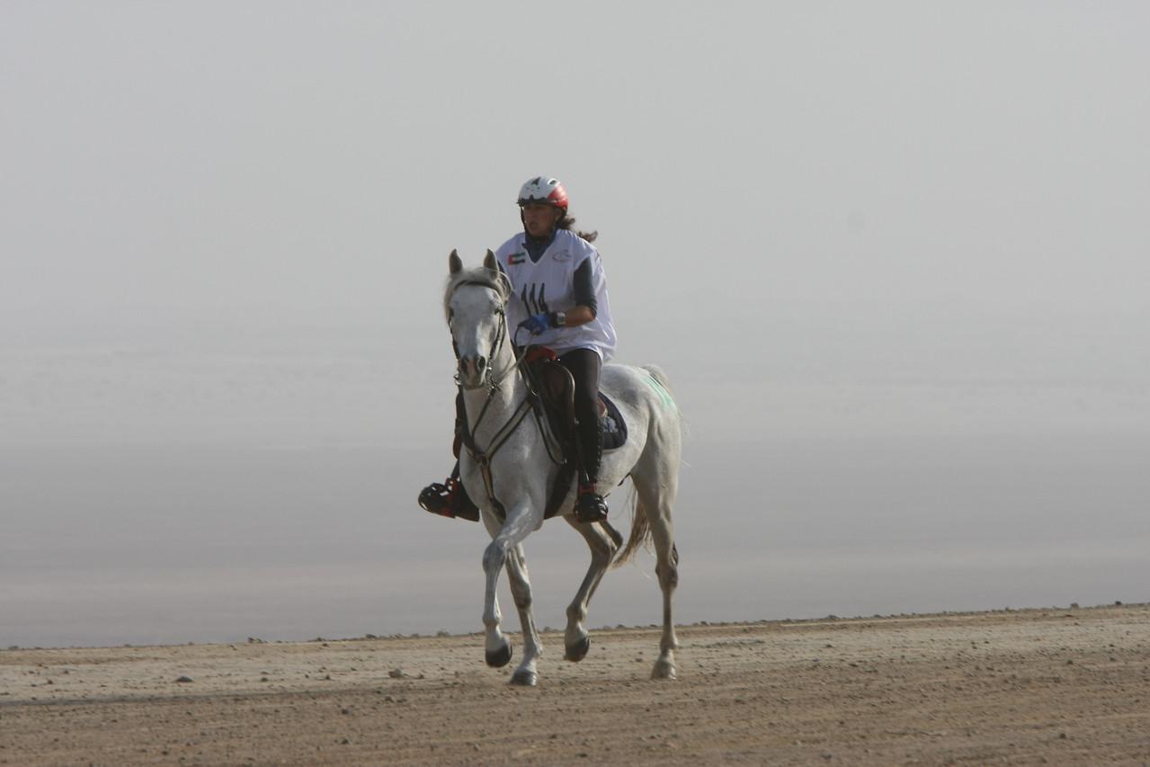 Italian rider, Cinzia Lacchelli on Missouri