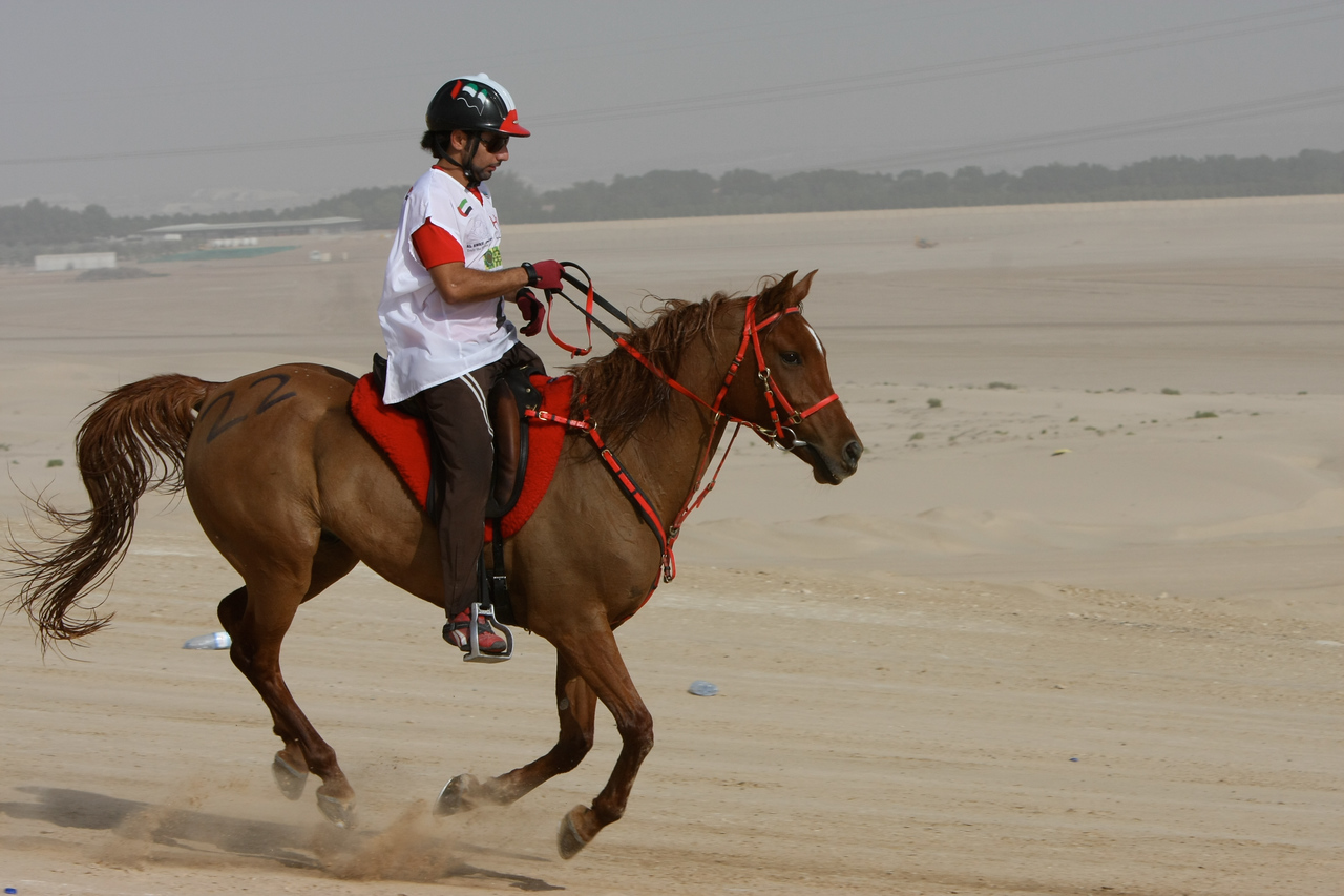 Yousef Ahmed Al Bloushi on the trail