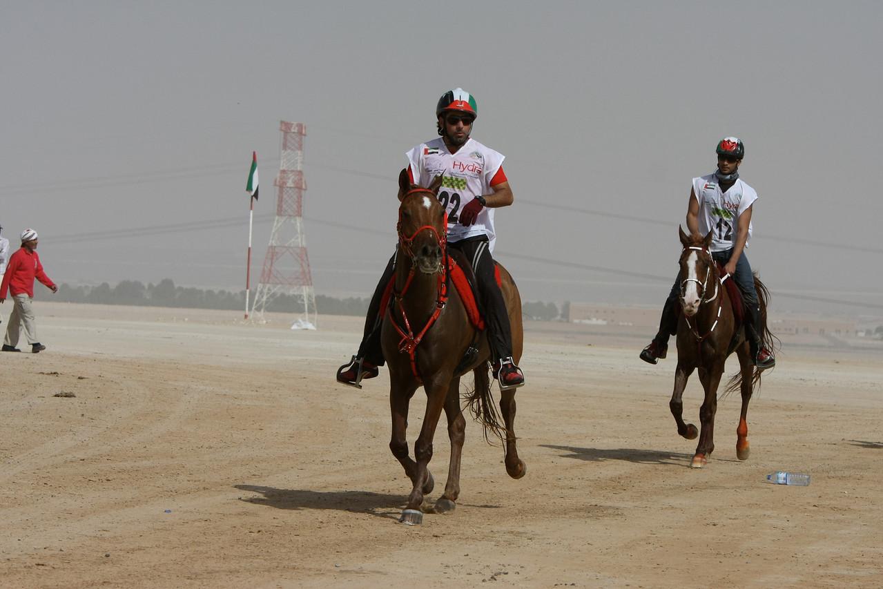 #22 winner, Yousef Ahmed Al Bloushi with #12, <br /> Sh Khaled bin Sultan Al Nahyan of Abu Dhabi