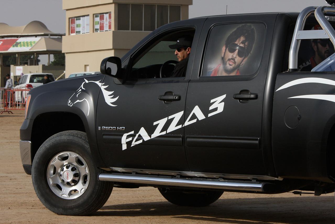 Sh Hamdan bin Mohammed Al Maktoum's stable and support truck