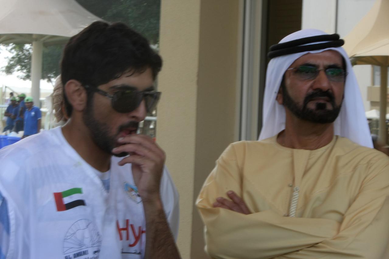 Sh Hamdan with his father, Sh Mohammed bin Rasheed Al Maktoum