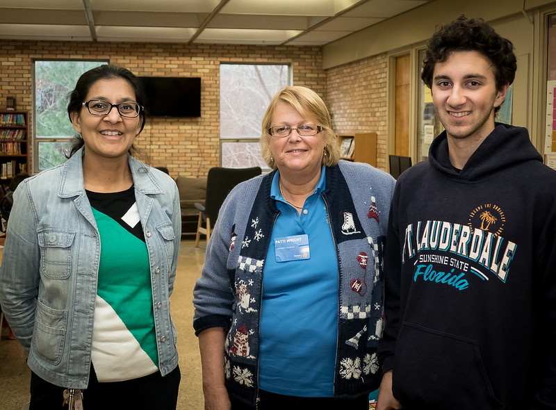 Patti Wright, center, is a past President of the Rotary Club of Toronto West and was the driving force in founding the ECI Interact Club. Patti is currently serving as an Assistant Governor in the 7070 Rotary District which extends across much of Ontario.