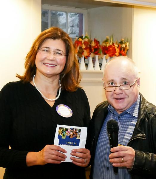 RTW Club President Stephen thanking Maria for her terrific presentation.