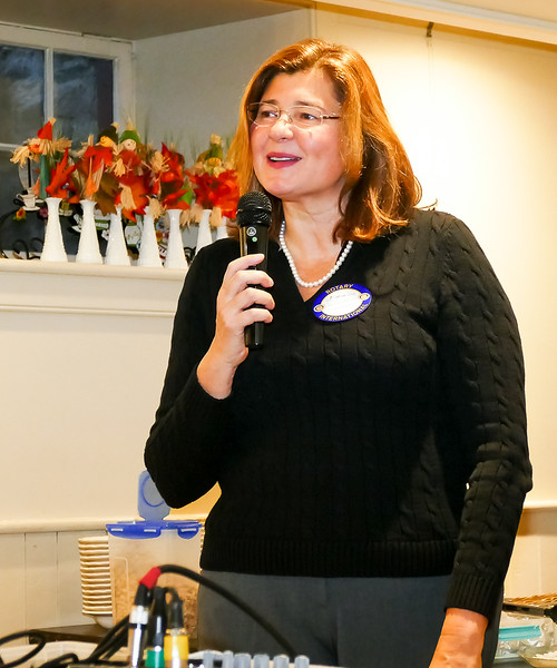 Guest speaker Maria Polliari, provided an update on the activities of the Days for Girls organization.