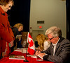 "For a donation of $50 to the Highway of Heros, Mark Cullen generously gave donors an autographed copy of his book ""The New Canadian Garden"" The lineups were long!"