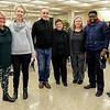 L-R: Rotarians Patti Wright, Jane Botsford, Iosef Ciosa* and Lynda Ryder* (* from Etobicoke Rotary), Janet McKenzie, Ismail Taiwo and ECI teacher Stephanie Vink.