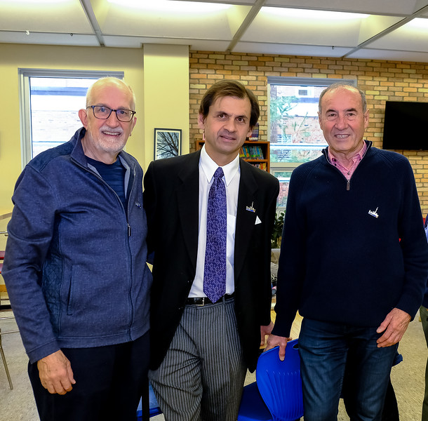 """The """"seldom photographed"""" club photographer John S (L) along with fellow Rotarians Mike N and Gaston B."""