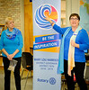 "Mary Lou spoke of the symbolism embedded in this year's Rotary International theme banner ""Be The Inspiration""  and in its logo which depicts  ""Embracing the Force of Nature for Good, with Heart, and with Direction"""