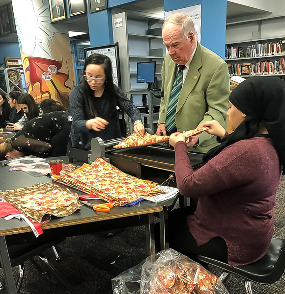 """The local Toronto chapter of the international """"Days for Girls"""" organization has been headed  by Maria Pollieri. Thousands of kits are sent to schools in SE Asia and Africa. It is common for young girls to miss out on several days of important schooling each month."""