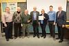 Toronto West Rotarians on hand were (L-R) Terry Vango, Bob Sexton, Dave Crack, Paul Collier, Patti Wright (Interactor Liason chair), Greg Dobson of Rotary Etobicoke club, and John Stevenson (of RTW)