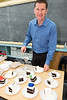 Greg Dobson of Rotary Etobicoke club sliced up a large celebration cake which was quickly devoured by the students that had yet to eat lunch!