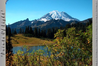 This view of Mount Rainier over lake Tipsoo is visible from the highway as you summit Blewett Pass, to the east of the mountain.  I had never seen it before the day I took this photo, and it is now my favorite view of this amazing peak.