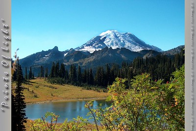 The view of Mount Rainier over Tipsoo Lake.  This is the view when you reach the summit of Blewett Pass on the eastern side of Mount Rainier National Park.  I've GOT to get back up there, and soon!