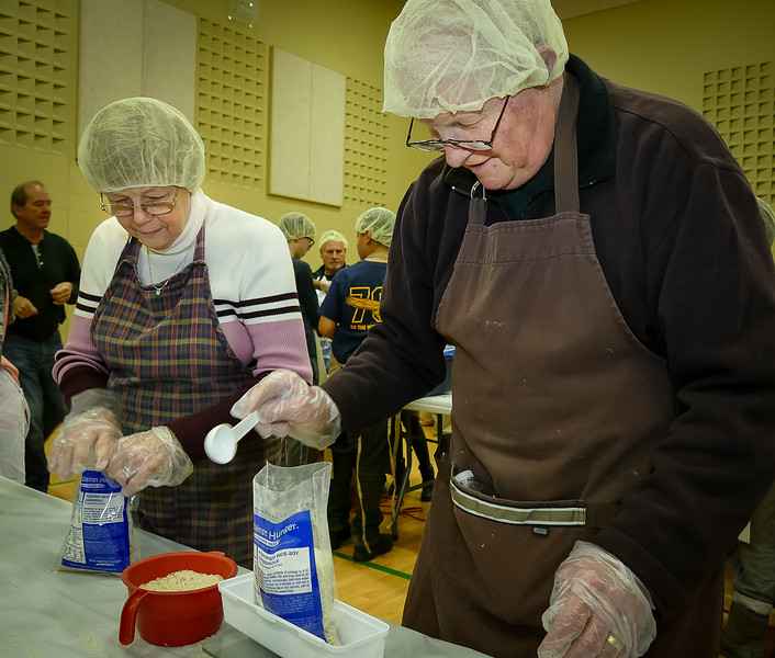 RTW Member Bob S with spouse Rea making many meals