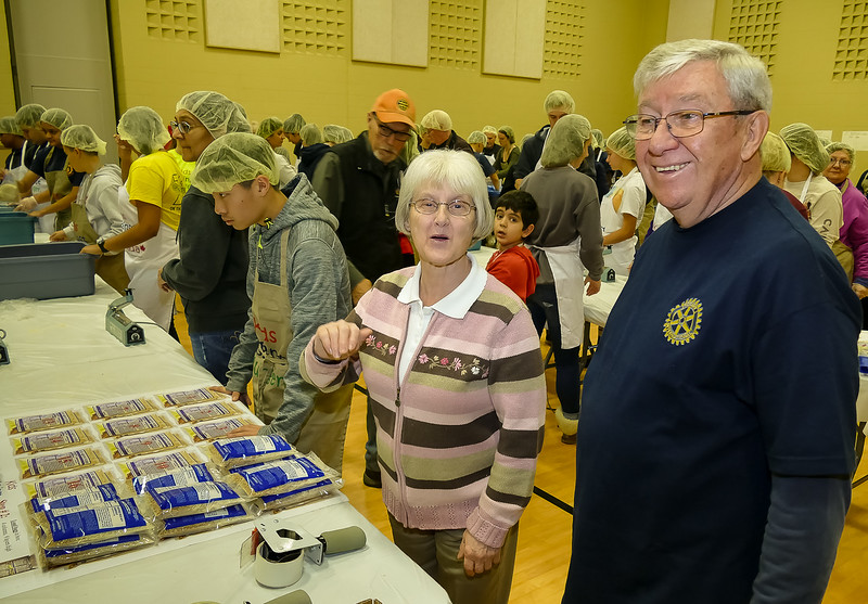 Spouse Linda with Rotary Toronto West President Terry Donohue