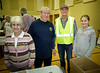 """Rotarians Linda, Terrry D (Pres RTW) and Leighton R (Past Pres RTW) with a very dedicated young  """"Kids Against Hunger Canada"""" team organizer."""