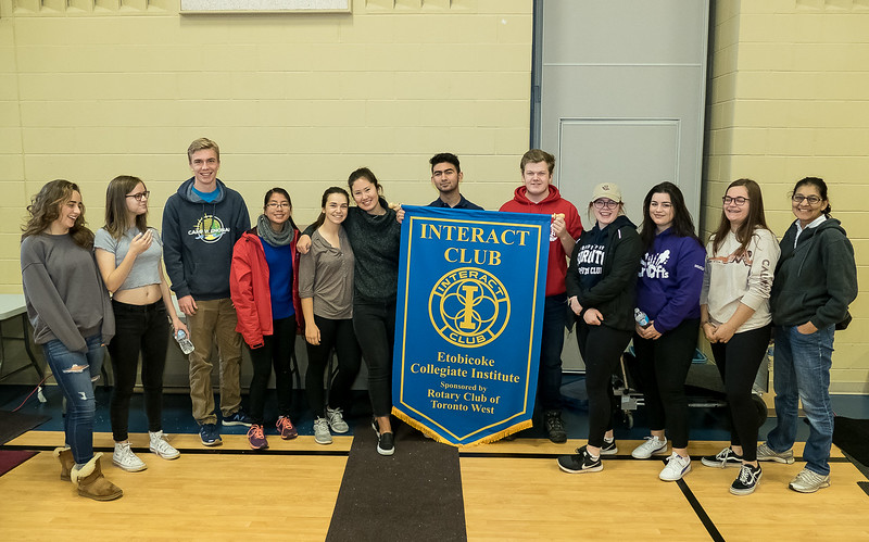 This Rotary Interact Club for the Etobicoke Collegiate Institute was founded in 2015 and was sponsored by the nearby Rotary Toronto West Club