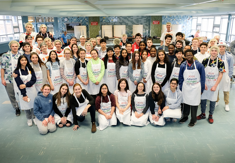 The whole gang - about 65 students in all participated. Thanks guys - terrific effort! Hope you enjoyed it.