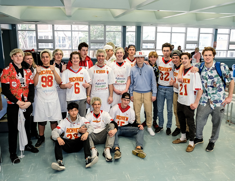 """""""The Richview Saints!"""" team members, many of which are largely active in both Lacrosse and Football"""