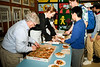 Rotarian Dave Crack assists Dr. Andrea Brozyna (Interact Liason and an Honorary Member of RTW) in serving Pizza to the hungry students at about 5:30pm after a good after-class session of work! Andrea is the Richview liaison between the Rotary Interact Club student members and the two Rotary Clubs: Rotary Etobicoke and Rotary Toronto West.