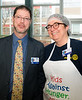 Rotary Governors for District 7070: Neil Phillips (2017-18)  and Mary Lou Harrison - incoming DG for 2018-19. Both pitched in to help.