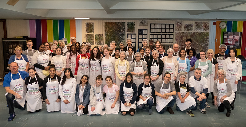 Over 60 Interactors and Rotarians gathered to assemble 2,300 meal packs. Each meal pack provides 6 servings, so almost 14,000 servings were shipped!