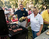 West Toronto Rotarians helped to serve  hot dogs and corn on the cob to hundreds at the 2015 Corn Roast