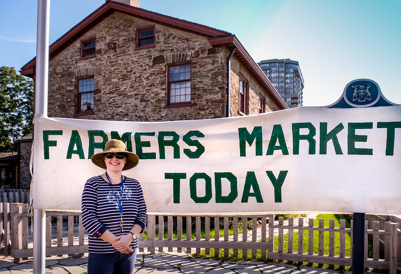 Iona MacKay is an Historical Interpreter at the Montgomery's  Inn  and was on hand to chat with visitors.